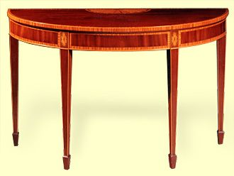 Barton sharpe sheraton style console table for What is sheraton style furniture